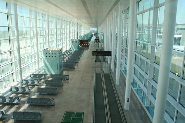 Piers. South pier boarding area
