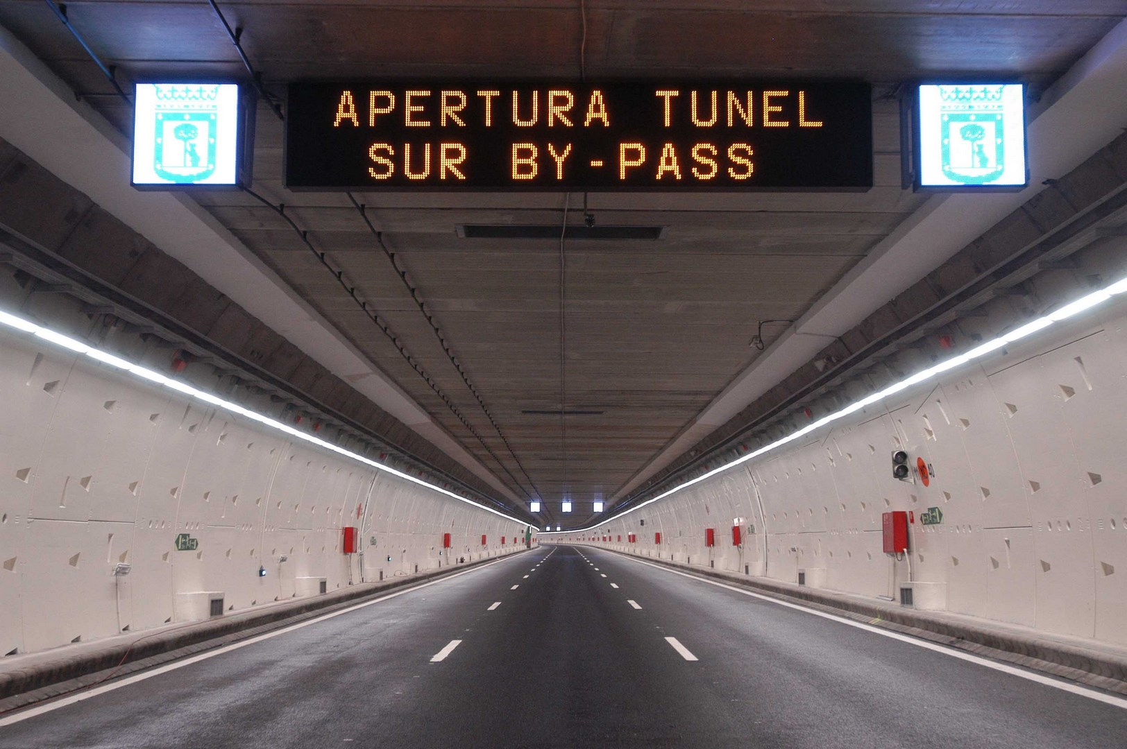 Access branch to the M-30 south tunnel station