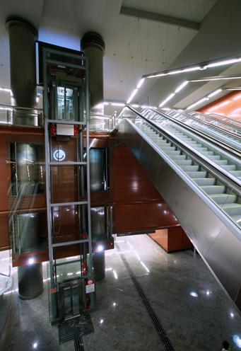 Vista interior del vestíbulo