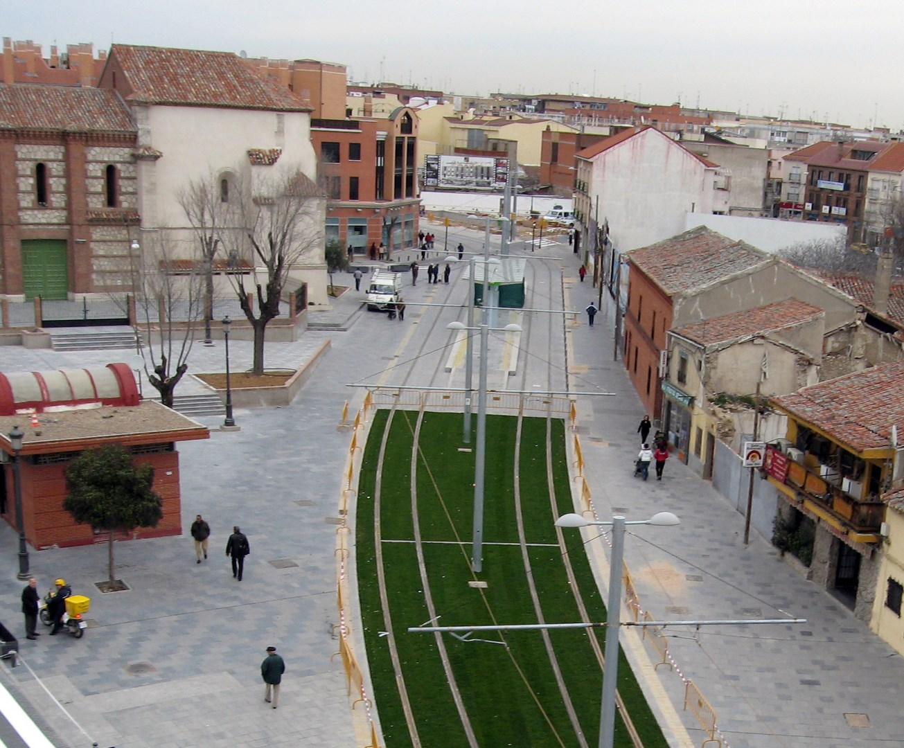 Real street, now converted into a pedestrian street