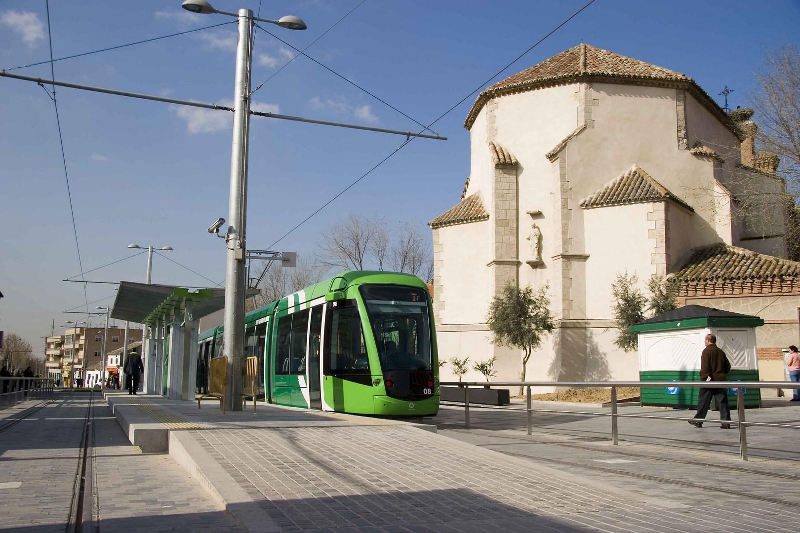 Diciembre. Tranvía de Parla. Madrid