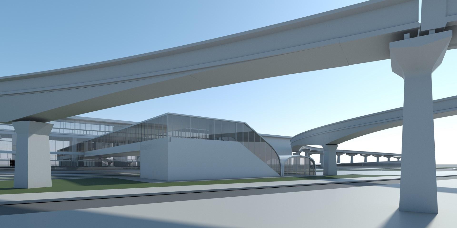 Infografía vista aérea pasarela y viaducto (2)