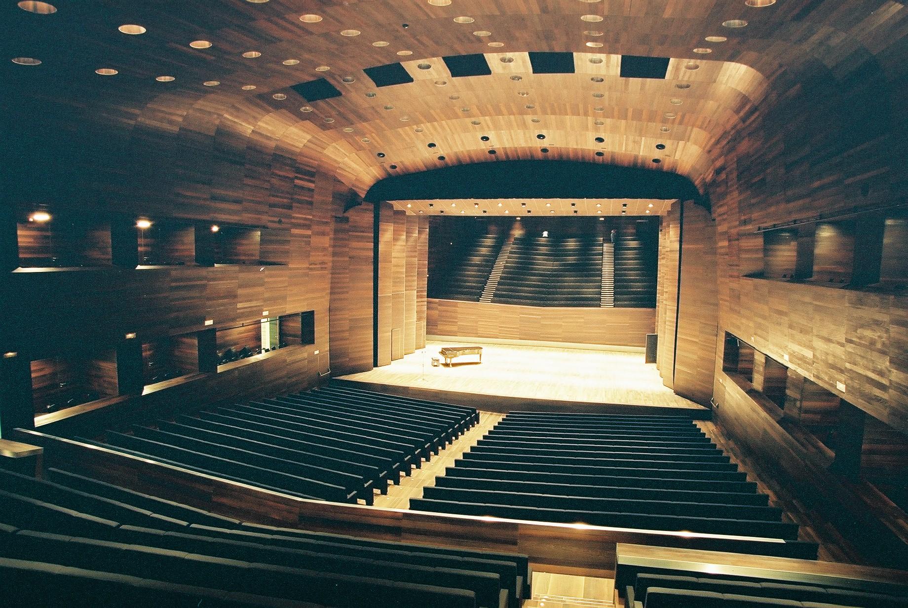 Escenario sala de conciertos