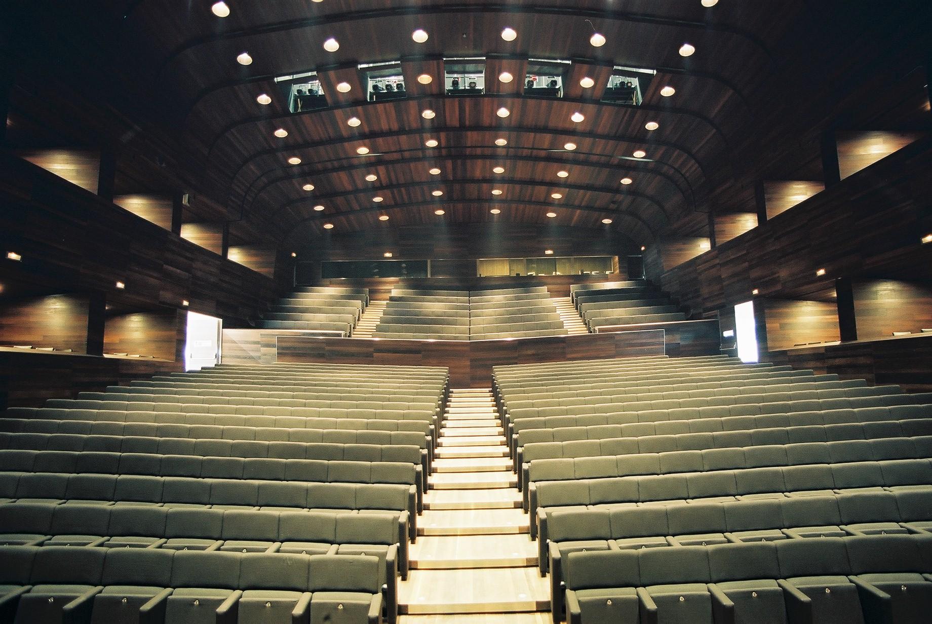 Sala de conciertos desde el escenario