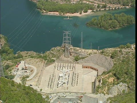 Panoramic view of the La Muela hydroelectric power station