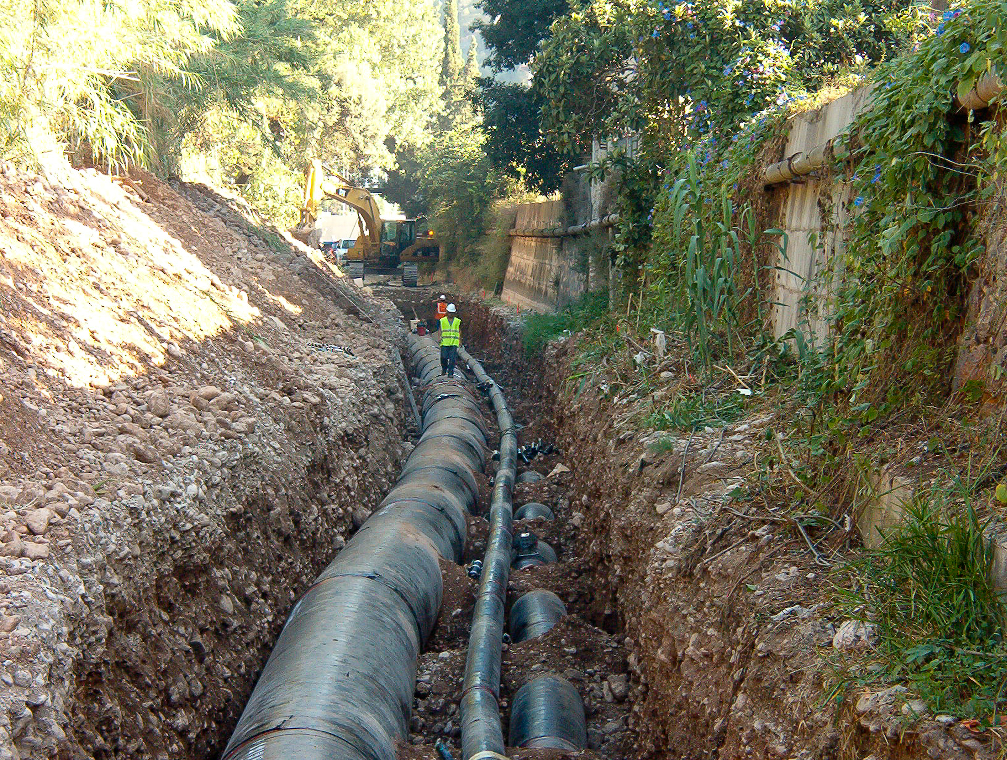 Torrente Major de Sóller steel piping installation