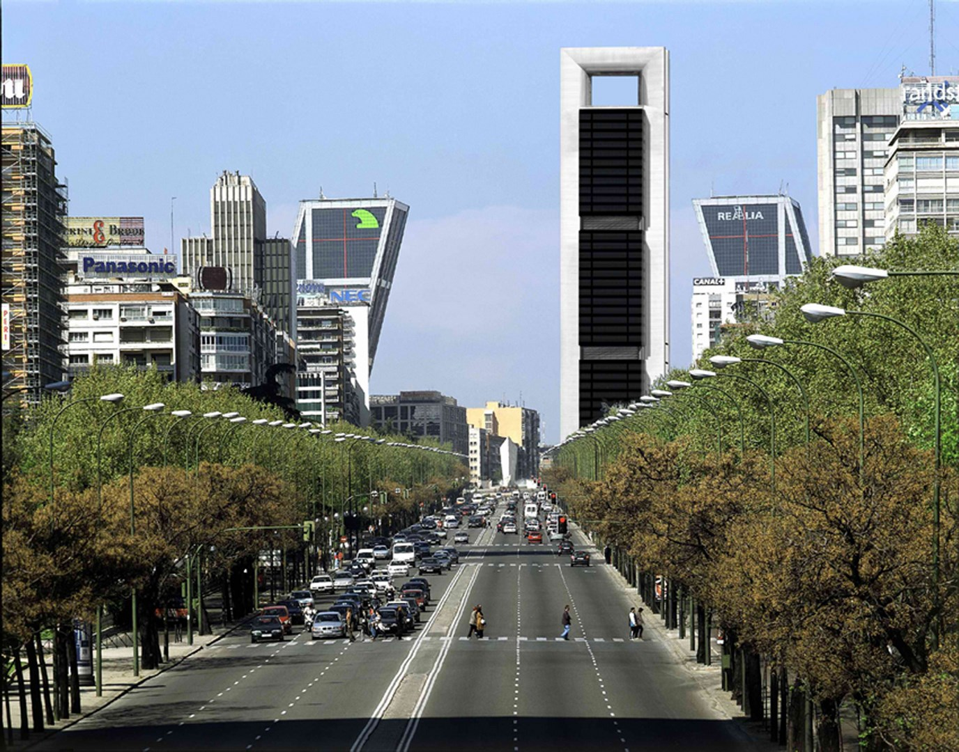 View from the Paseo de la Castellana