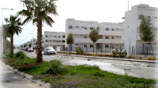 Vista exterior de la urbanización de El Toyo en Almería