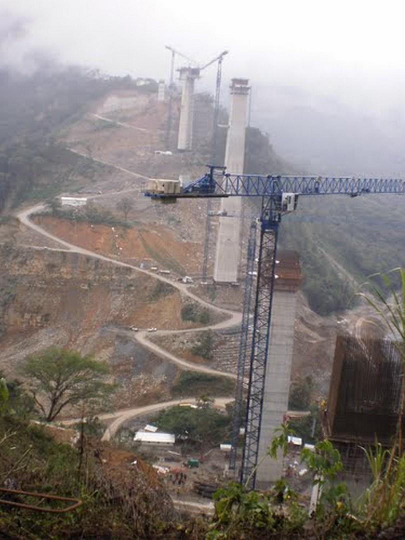Desarrollo de las obras del viaducto de San Marcos