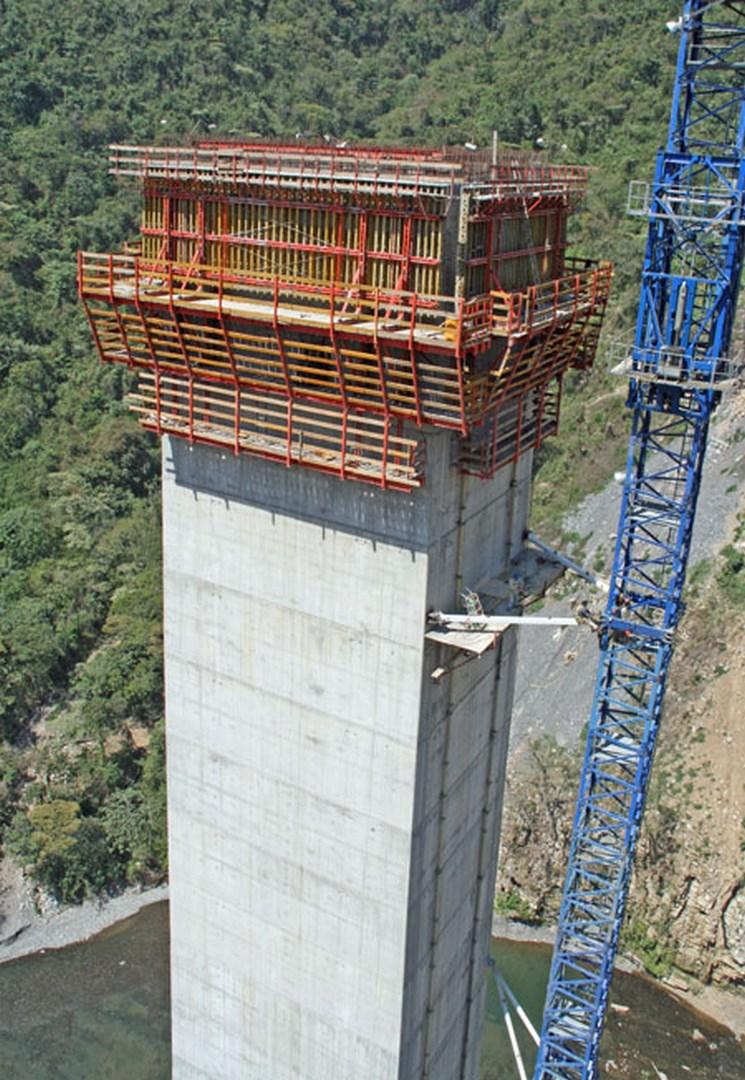 Construcción de la pila de San Marcos