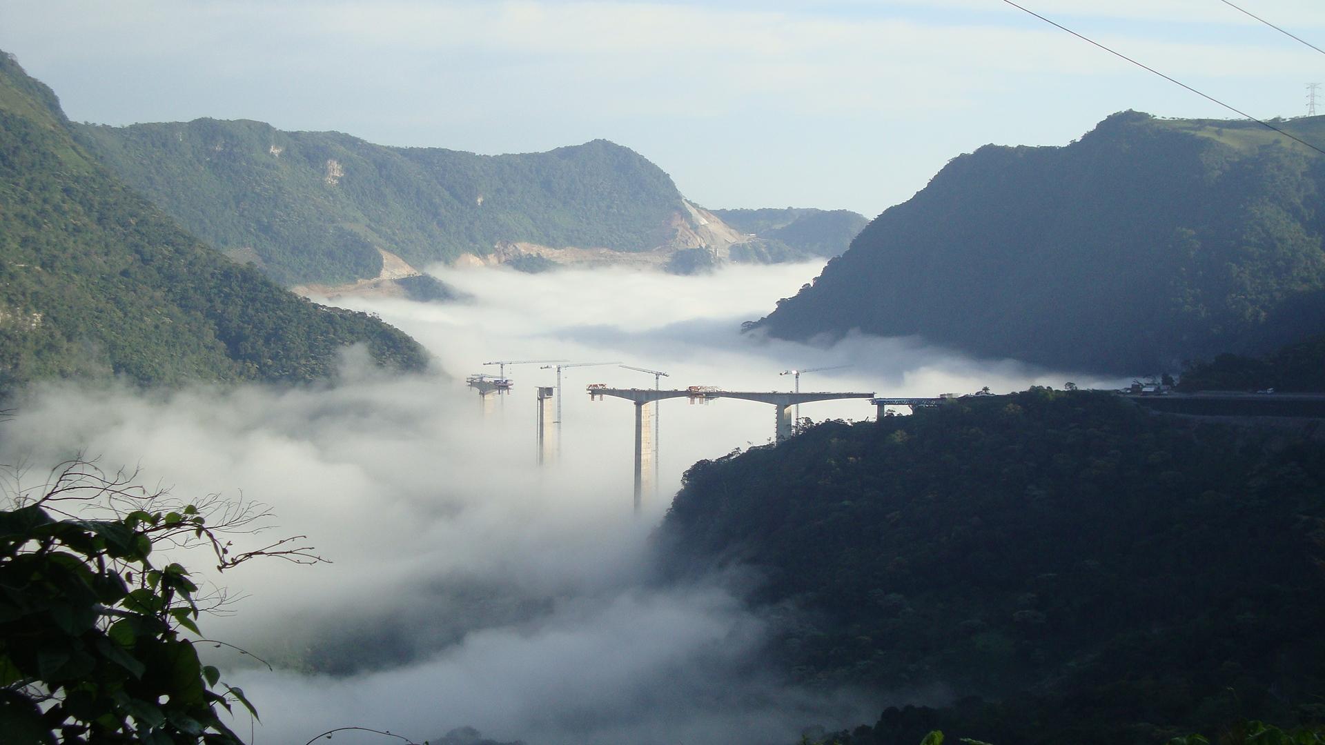 San Marcos over fog