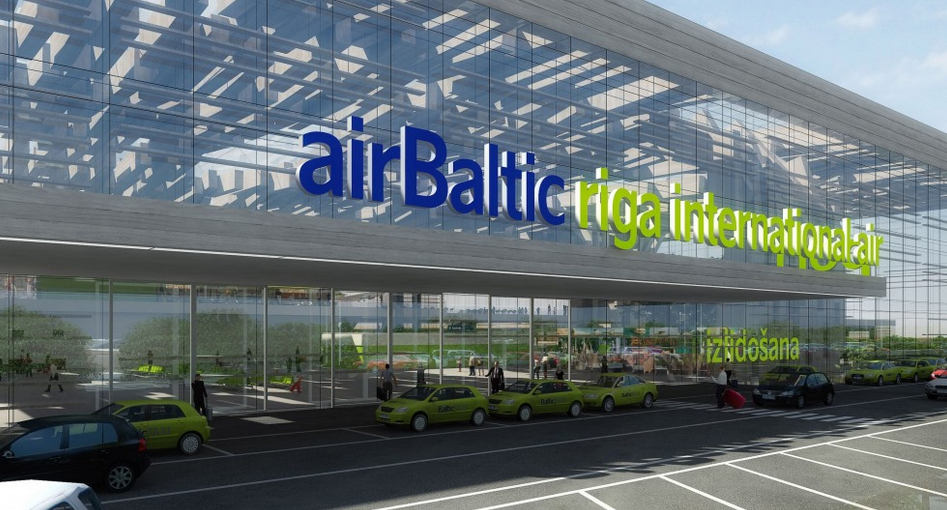 Main façade of Riga Airport