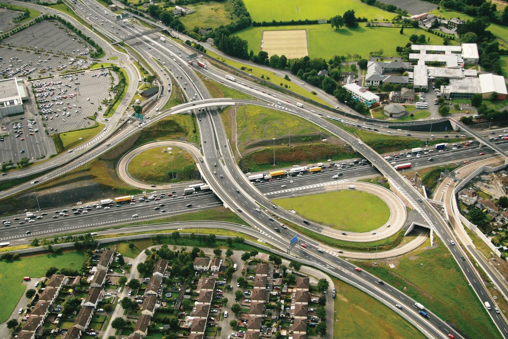 Construcción autopista de la M-50