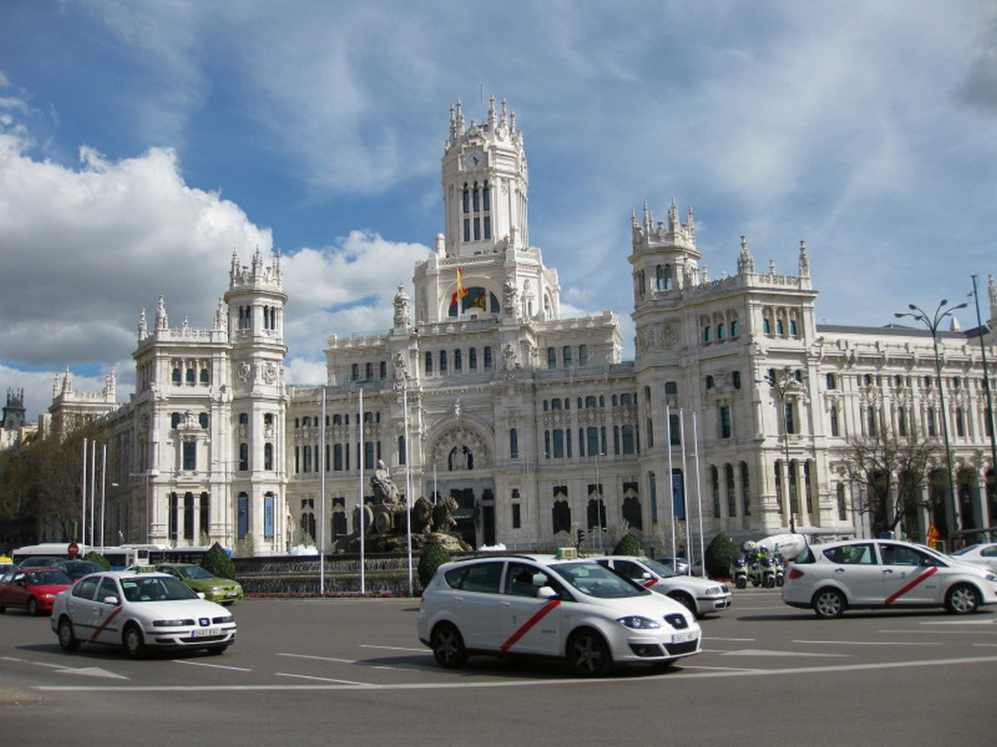 The Palace with the Cibeles Fountain in front