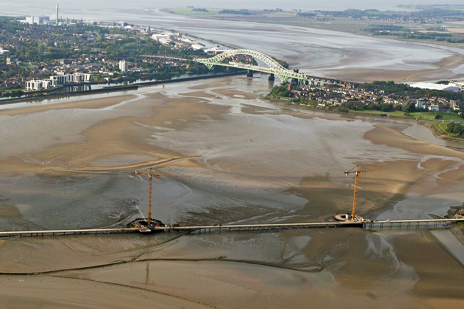 Lateral view of the future Mersey Bridge