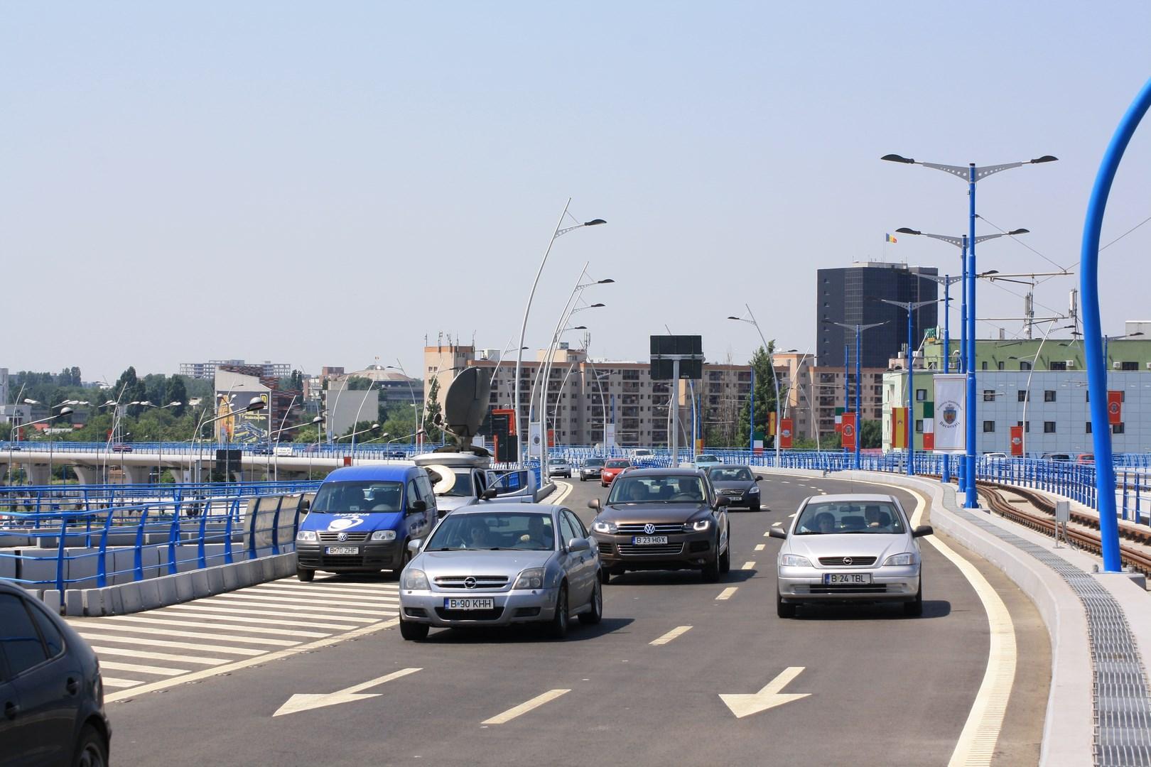 Viaducto Basarab tráfico rodado