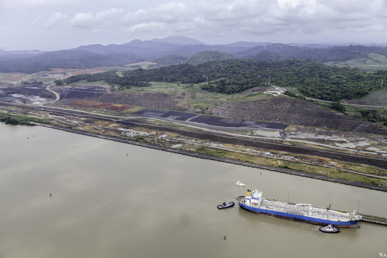 Panamá Canal works - aerial view