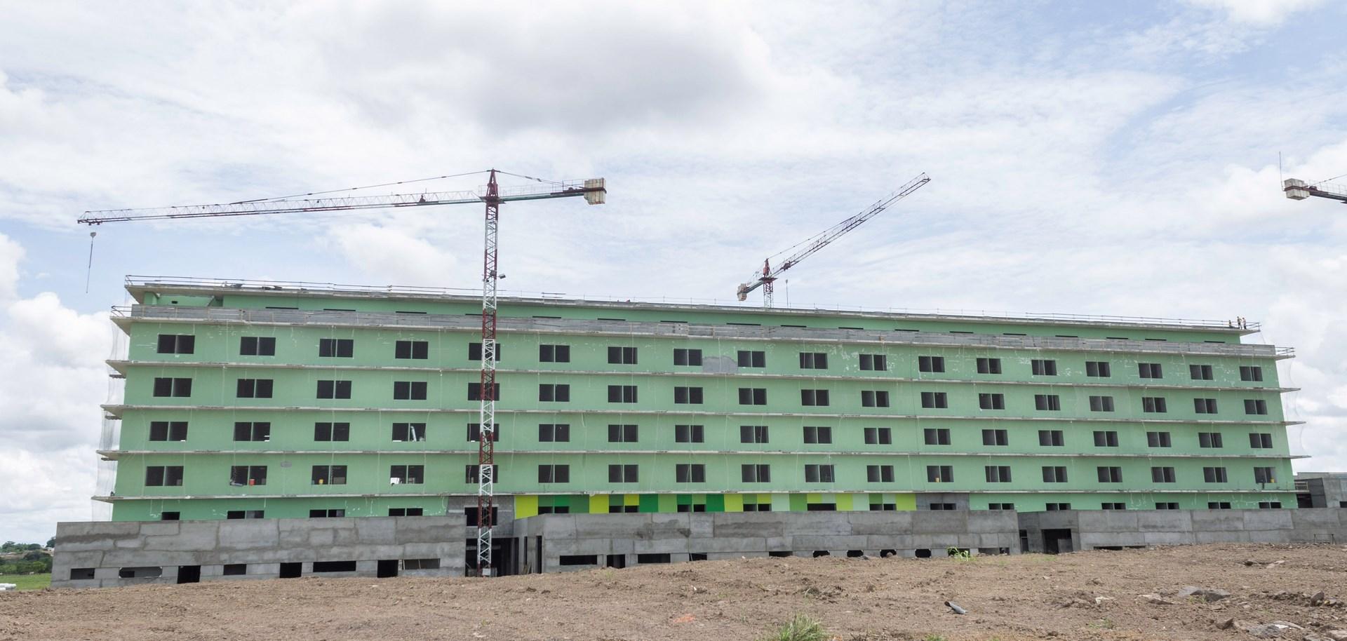 Façade of the new hospital