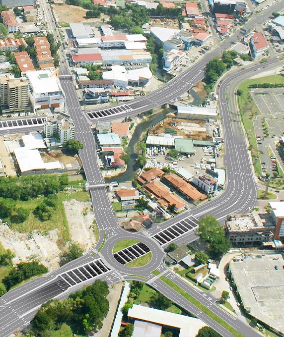 Vía Brasil Corridor, Sections 1 and 2