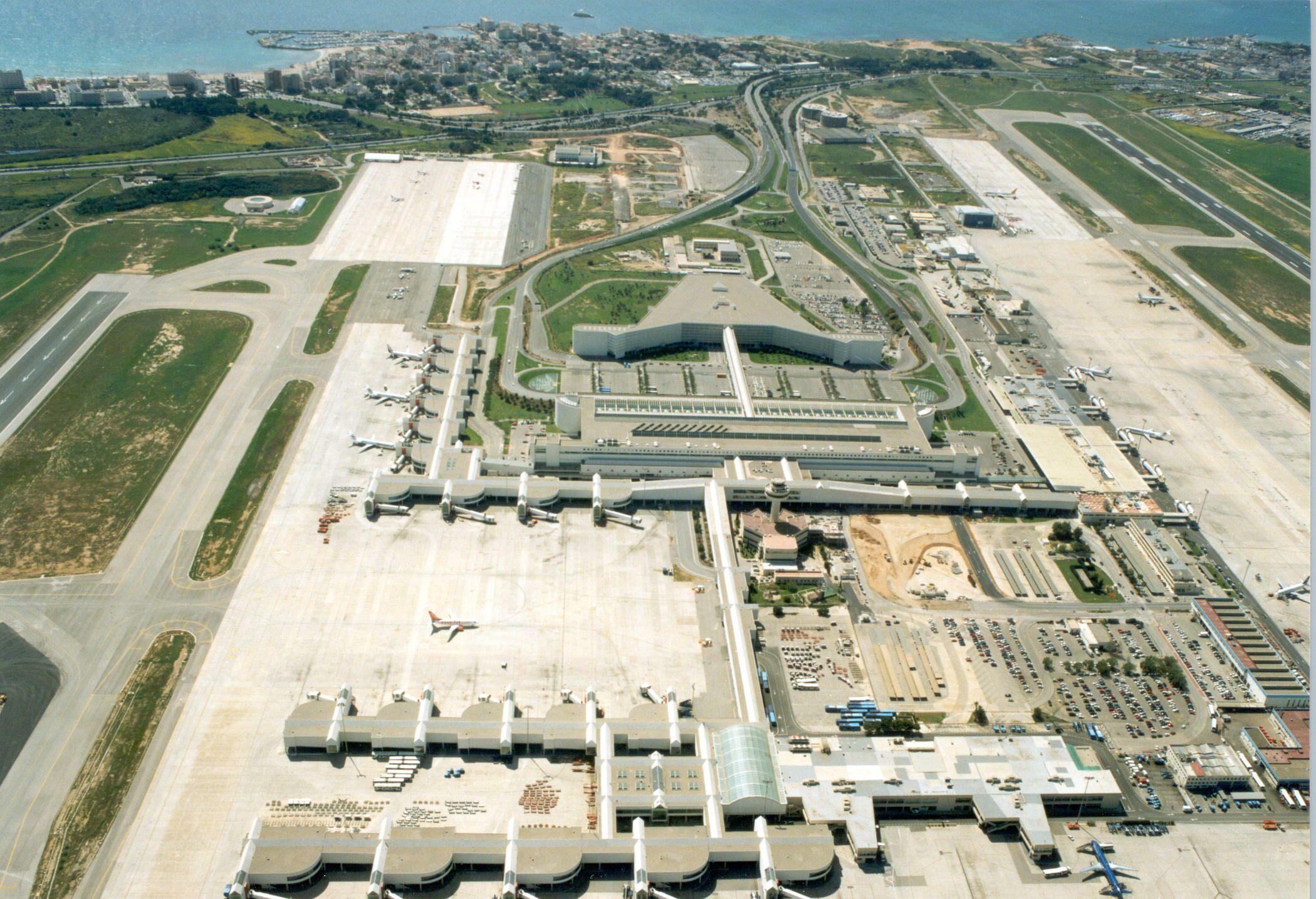 vista aérea aeropuerto Palma Mallorca