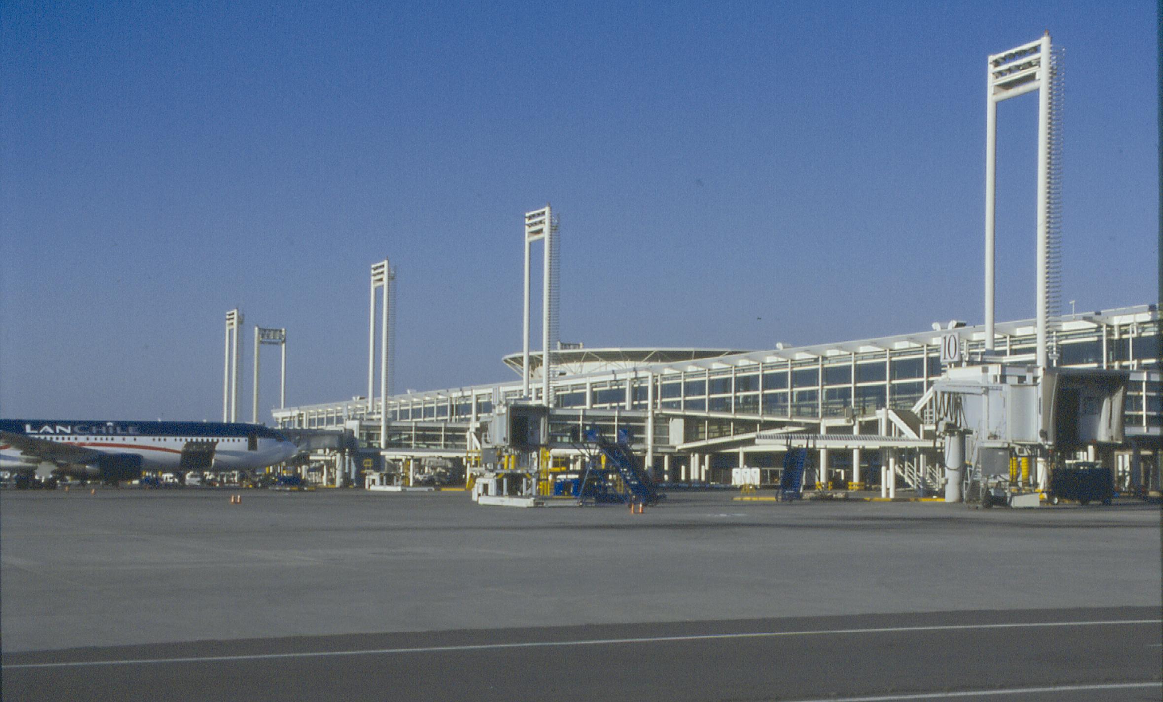 Aeropuerto de Chile aviones manga