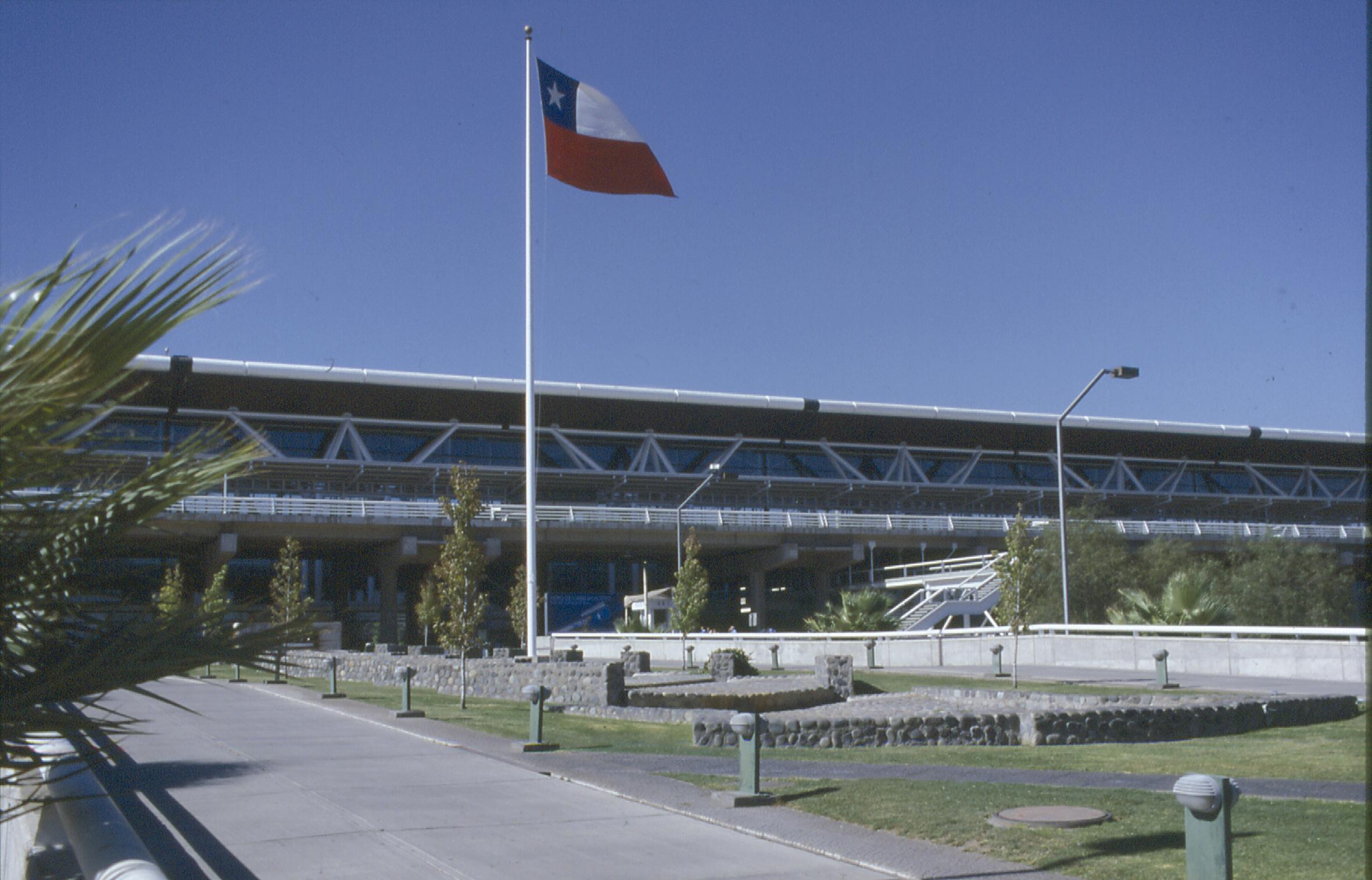Aeropuerto de Chile bandera