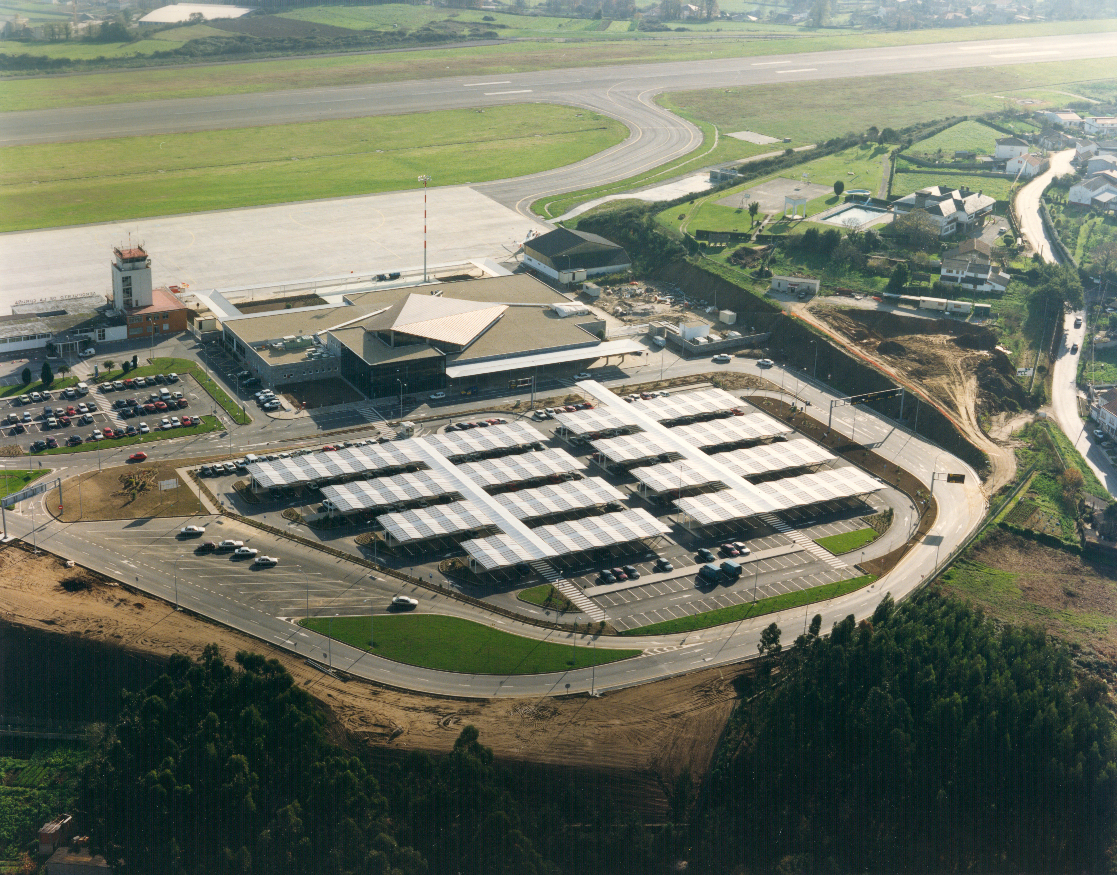 vista aerea aeropuerto la Coruña