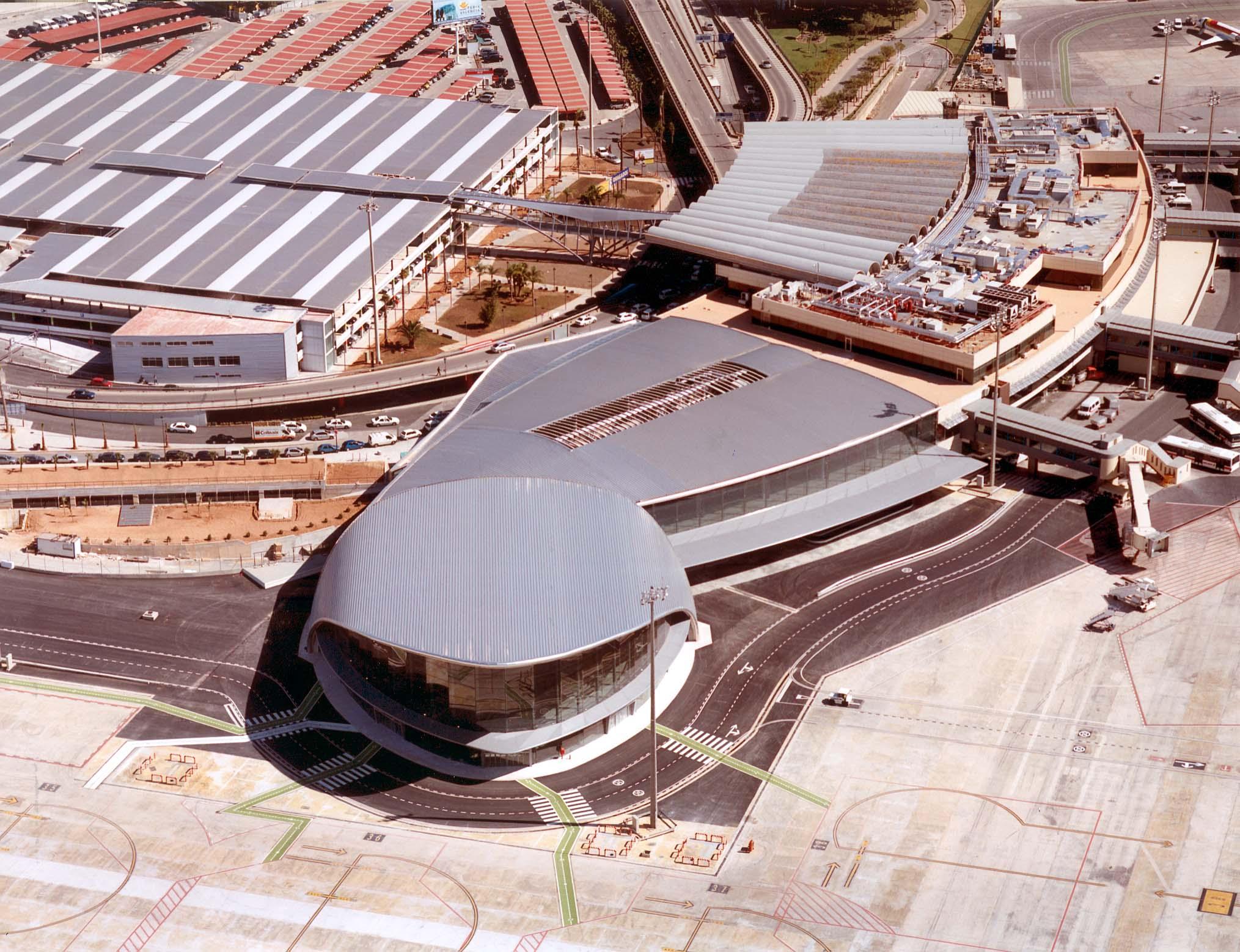 vista aerea aeropuerto Valencia