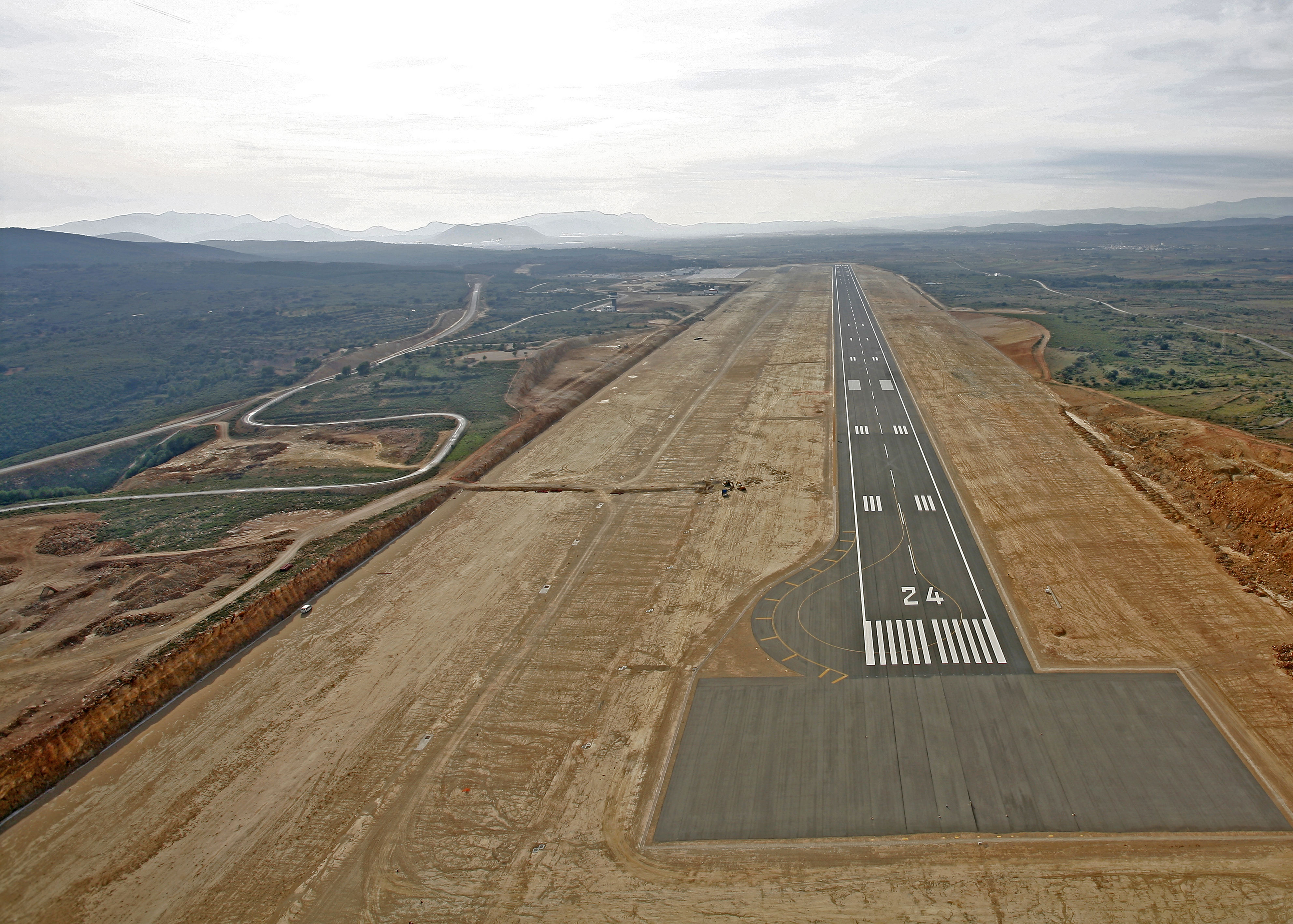 Vista aerea pista Aeropuerto Castellón