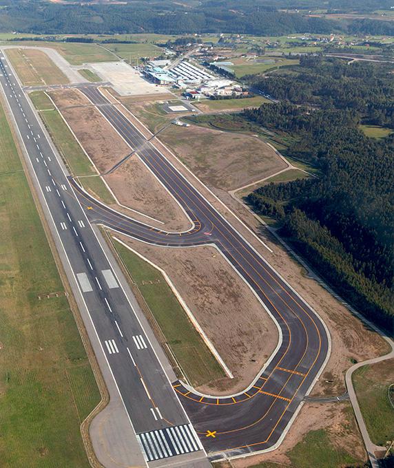Asturias airport, Rodadura