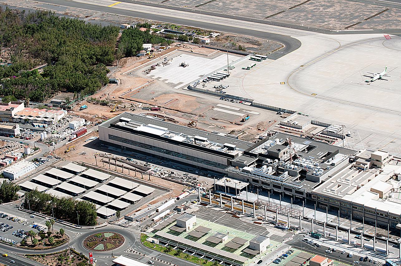 vista aerea Las Palmas aeropuerto