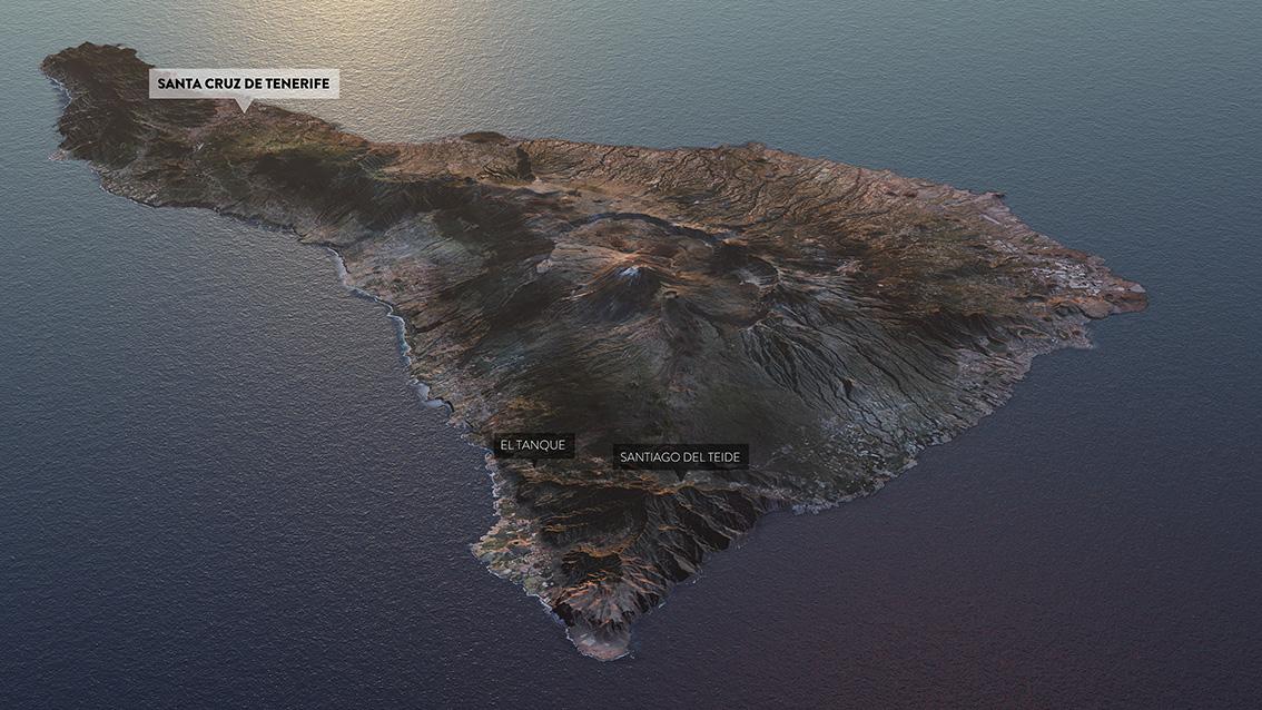 trayecto anillo insular Tenerife