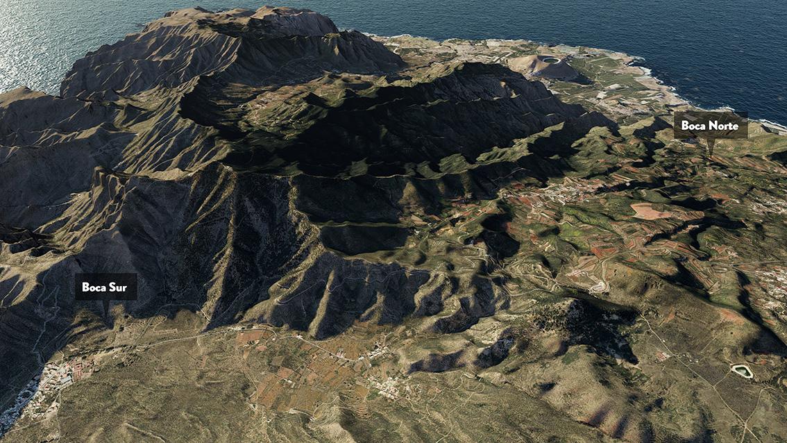 ubicación bocas tuneles anillo insular Tenerife